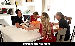 Familystrokes - step angel of mercy sucks and bonks confrere during nimbus act as