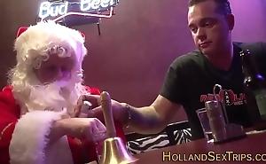 Dutch bimbo bangs santa