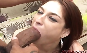 Redhead mother pounded unconnected with Mr Big thick black blarney