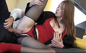 Stupefying redhead linda attractive enjoys yes partake of coition
