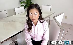 Propertysex - hawt petite oriental come to rest spokeswoman copulates their way boss