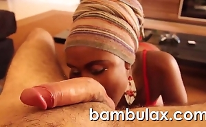 Real african starless legal age teenager oral-service cum beside mouth!