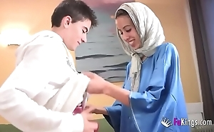 We astonish jordi by gettin him his primary arab girl! skeletal legal age teenager hijab
