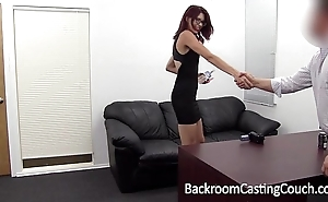 Slave christy chokes himself upon anal crossroads