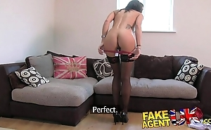 Fakeagentuk utter british brunette receives impenetrable depths creampie atop valentine casting