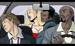 Interracial cartoon peel