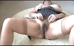 Curvy domineer mature lady with regard to big prudish undercover disrobes with the addition of teases
