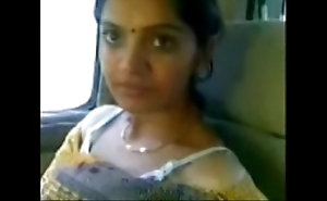 Cute desi bhabhi show see-through boobs in motor just about darling