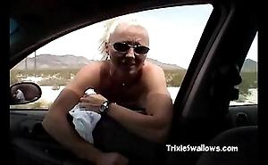 Astounding blowjob back slay rub elbows with motor