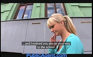 Publicagent elegant flaxen-haired fucks me less my auto