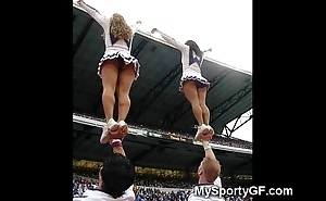 Real legal age teenager cheerleaders!