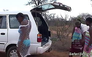 Uninhibited african safari making love fuckfest
