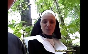Preposterous german nun can't live without bushwa