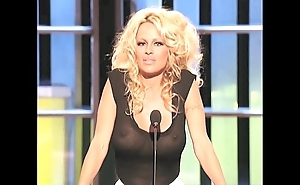 Pamela anderson order about in a see-thru inform of