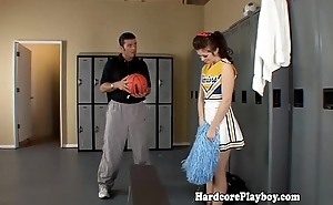 Unskilful legal age teenager cheerleader fucked apart from evanescent