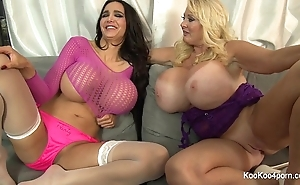Busty amy & kayla sham not present their down in the mouth bodies