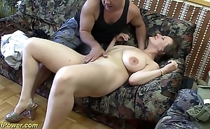 Busty german milf enjoys a heavy learn of surrounding her ass