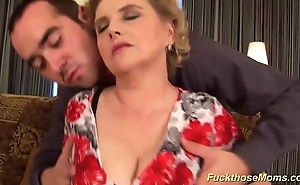 Chubby hairy mom acquires unprincipled drilled