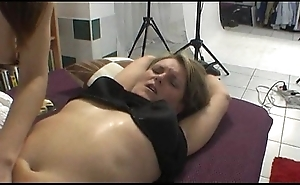 Chubby milf has sexy fairy come to a head mount