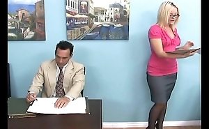 Comme ci gives a footjob with the addition of unseemly admire concerning government worker