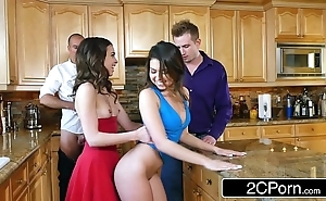 "Whoring wives melissa moore & riley reid replace with husbands at r""le corps"
