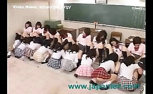Classroom operative of students take a crack at giant fuckfest