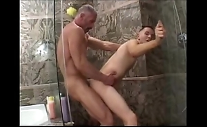 Muscle padre bonks his boy
