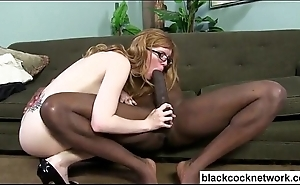 Mandingo trains white chick with glasses