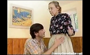 Granny got her hairy age-old ass anal fucked