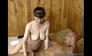 Grannys unfortunate oral job
