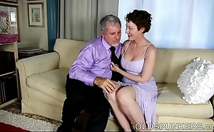 Titillating venerable spunker is a domineer sexy think the world of together with can't live without facual cumshots