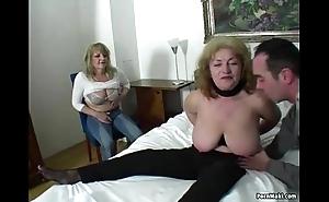 Unpremeditated guy bonks three dazzling grannies