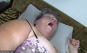 Elderly chunky ma teaches say no to chunky younger girl masturbating use fake penis