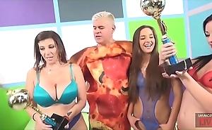 Cook jerking blowjob and face housebound with sara jay, amirah adara and jennifer waxen