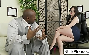 Jennifer gets an interracial creampie