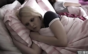 Legal age teenager encourage into a taboo sleepover mating around bro and sis