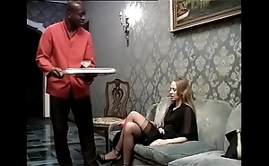 Ebon servant banging his sexual lady be useful to be passed on house