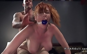 Gagged successfully tits redhead anal screwed