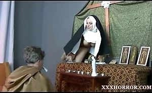 Nun angelica prones her ass alongside the miasmic