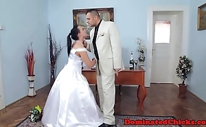 Chubby bride tormented compare arrive nuptial