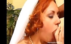 Czech redhead bride screwed
