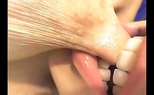 Teat closeup engulfing