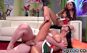 Spizoo - ava addams coupled with triplet st clair bonks santa's big dick, big bosom