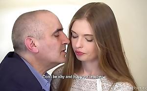 Principal old teacher - crestfallen babe gives her old teacher a fantastic blowjob