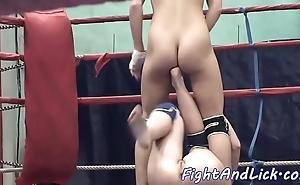 Euro dykes wrestling exposed in a roundlet