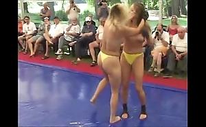 Topless body of men fight
