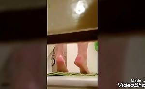 Voyeur set of two shower roommate snoop