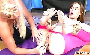 Yoga lesbos anal shagging yon slavery