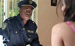 Police run in tori black